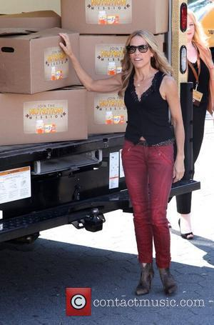 Sheryl Crow promotes the 'Nutrition Mission' campaign in Union Square New York City, USA - 12.09.12