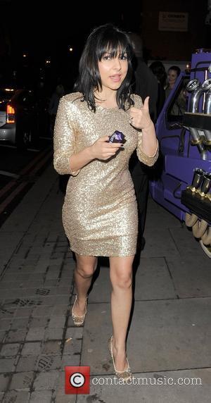 Roxanne Pallett leaving a party in Shoreditch. London, England - 12.04.12