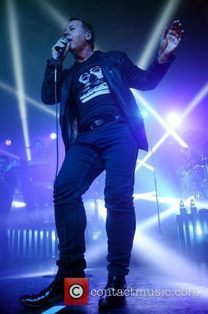 Jim Kerr of Simple Minds performing live in concert at the Barrowland Ballroom Glasgow, Scotland - 25.02.12