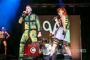 Ana Matronic and Jake Shears,  of the Scissor Sisters performing live at Cascais Music Festival in Hipodromo Manuel Possolo....