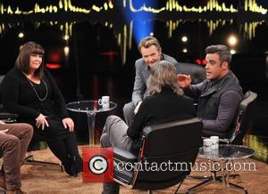 Dawn French, Fredrik Skavlan and Robbie Williams