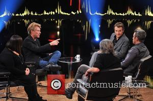 Dawn French, Jon Bon Jovi, Fredrik Skavlan and Robbie Williams