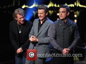 Jon Bon Jovi, Fredrik Skavlan and Robbie Williams