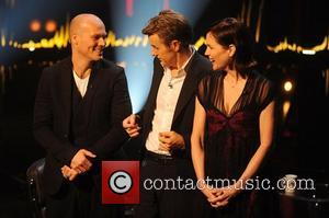 Freddie Ljungberg, Fredrik Skavlan and Elizabeth Mcgovern