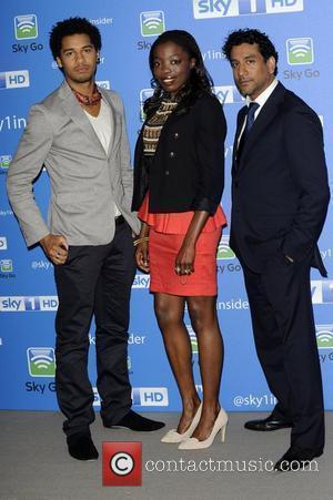 Elliot Knight, Estella Daniels, Naveen Andrews Sky 1 media day held at The Soho Hotel - Arrivals  London, England...