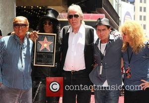 Robert Evans, Charlie Sheen, Jim Ladd, Slash and Steven Adler