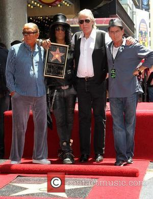 Robert Evans, Charlie Sheen, Jim Ladd and Slash