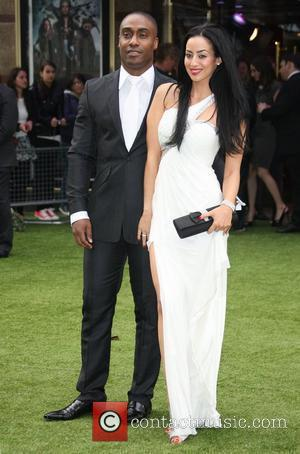 Simon Webbe and girlfriend Maria Kouka World Premiere of Snow White and the Huntsman held at the Empire and the...