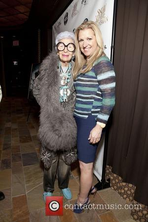 Iris Apfel & Mindy Grossman HSN Universal cocktail reception for 'Snow White & The Huntsman' held at the Tribeca Grand...