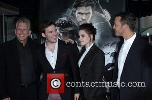 Joe Roth, Kristen Stewart and Sam Claflin