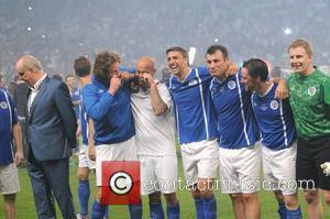 Gerard Butler, Freddie Ljungberg, James Mcavoy, Joe Calzaghe and Patrick Kielty