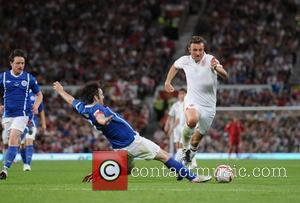 Michael Sheen and Jonathan Wilkes  Soccer Aid 2012 in support of UNICEF UK held at Old Trafford Manchester, England...