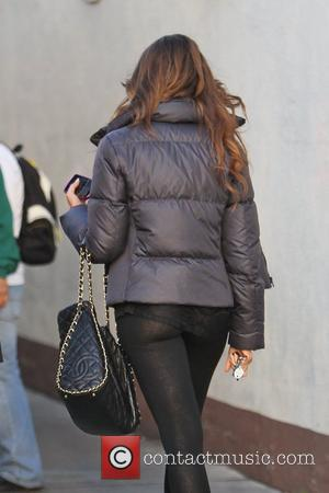 Sofia Vergara does some Christmas shopping at Neiman Marcus and then gets a manicure while wearing very sheer leggings Los...