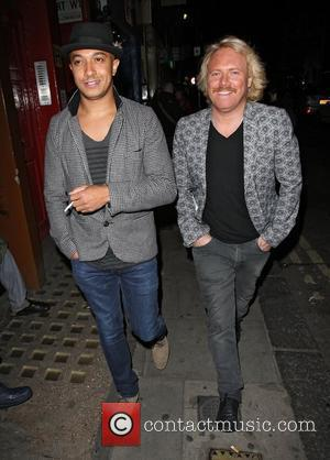 Jade Jones and Leigh Francis out and about in Soho London, England - 19.06.12