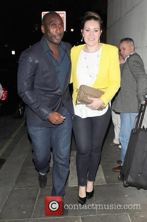 Sol Campbell and Fiona Barratt leaving Zuma restaurant  London, England - 12.03.12