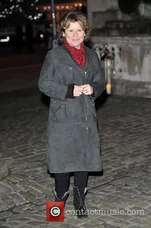 Imelda Staunton,  at the launch party for the Somerset House Ice Rink at Somerset House. London, England - 15.11.12