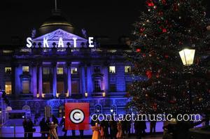 Somerset House,  at the launch party for the Somerset House Ice Rink at Somerset House. London, England - 15.11.12