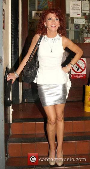 Bonnie Langford arriving at the Harold Pinter Theatre to perform in Monty Python's Spamalot London, England - 31.07.12