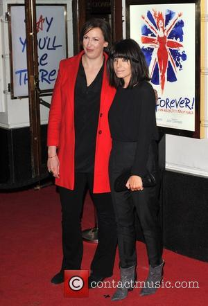 Miranda Hart, and Claudia Winkleman Viva Forever VIP night held at the Piccadilly Theatre - Arrivals. London, England - 11.12.12