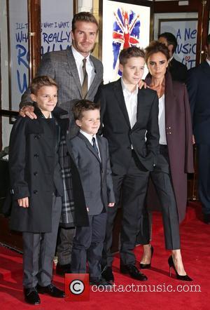 David Beckham, Victoria Beckham, Romeo Beckham, Cruz Beckham and Brooklyn Beckham
