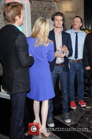 Denis Leary, Emma Stone , Andrew Garfield , Rhys Ifans and Director Marc Webb  The cast of 'The Amazing...