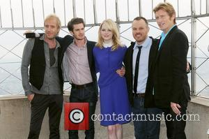 Rhys Ifans, Andrew Garfield, Denis Leary, Emma Stone and Marc Webb