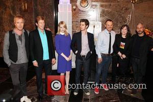 Rhys Ifans, Denis Leary, Emma Stone, Andrew Garfield and Marc Webb  The cast of 'The Amazing Spider-Man' attend a...