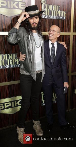 Russell Brand and Jeffrey Katzenberg