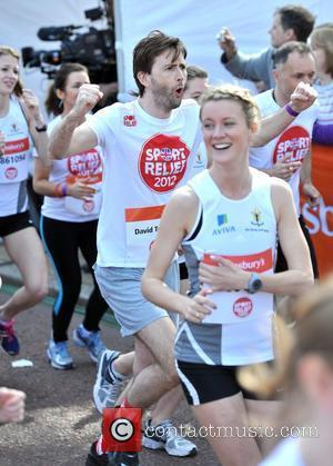 David Tennant Sainsbury's Sport Relief Mile 2012 - London London, England - 25.03.12