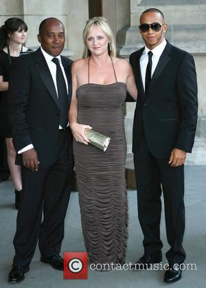 Anthony Hamilton, Lewis Hamilton and Linda Hamilton