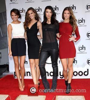 Chrissy Teigen, Izabel Goulart, Crystal Renn, Nina Agdal the SI Swimsuit Models Handprint Ceremony at Planet Hollywood Las Vegas, Nevada...