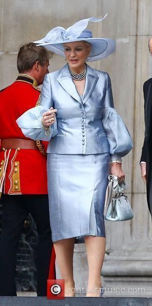Princess Michael of Kent  leaving the Queen's Diamond Jubilee thanksgiving service at St. Paul's Cathedral London, England - 05.06.12