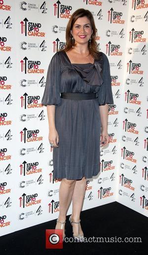 Amanda Lamb Stand Up To Cancer fundraising gala, held at 3 Mills Studio - Arrivals London. England - 18.10.12