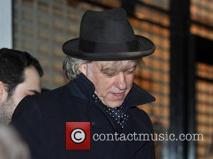 Bob Geldof Stella McCartney store Christmas Lighting. London, England - 29.11.11