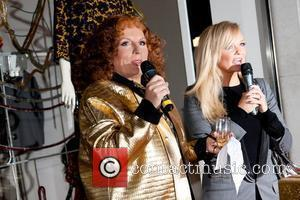 Jennifer Saunders and Emma Bunton Stella McCartney store Christmas Lighting. London, England - 29.11.11  This is a PR photo....