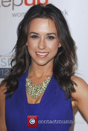 Lacey Chabert and Beverly Hilton Hotel