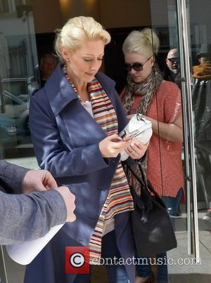 Claire Richards and Faye Tozer Steps leaving The Morrisson Hotel  Dublin, Ireland - 04.04.12