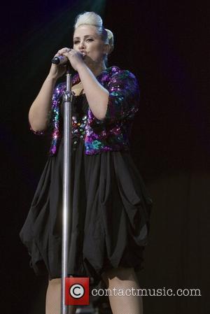 Clare Richards Steps performing live at Hamilton Park Racecourse Hamilton, Scotland - 07.07.12