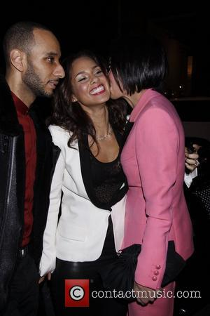 Swizz Beatz and Alicia Keys  Opening night of the Broadway play 'Stick Fly' at the Cort Theatre - Arrivals....