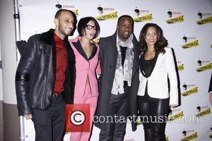 Swizz Beatz, Alicia Keys and Malik Yoba