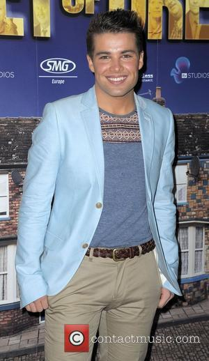 Joe McElderry World premiere of 'Street of Dreams Musical' held at the Manchester Arena - Arrivals. Manchester, England - 10.05.12