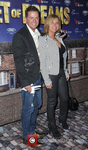 Tricia Penrose and husband Mark,  World premiere of 'Street of Dreams Musical' held at the Manchester Arena - Arrivals....