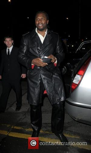 Audley Harrison,  at the Strictly Come Dancing Live Final held at the Pleasure Beach Casino. Blackpool, England - 17.12.11