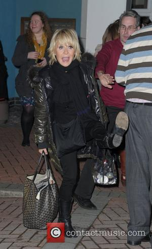 Lulu arrives back at her hotel,  at the Strictly Come Dancing Live Final held at the Pleasure Beach Casino....