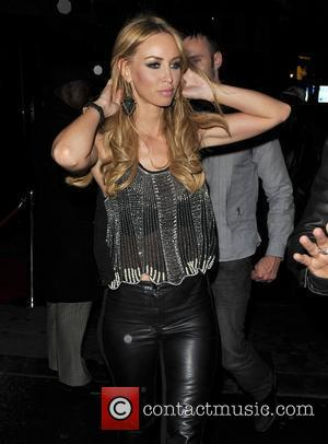 Lauren Pope The Only Way Is Essex star leaving Stringfellows strip club after 4.30am. London, England - 08.06.12
