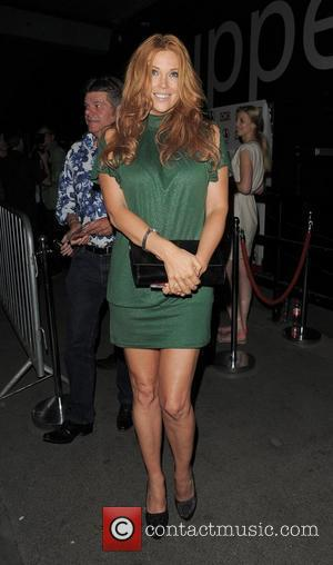 Angelica Bridges leaving The Supperclub. London, England - 25.07.12
