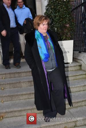 Susan Boyle Breaks Down At Motorway Service Station