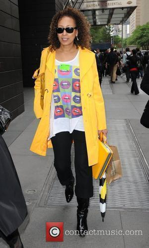 Tamara Tunie shops in Manhattan New York City, USA - 14.05.12