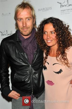 Rhys Ifans  & Tara Smith UK launch of Tara Smith Vegan Haircare at Sketch  London, England- 26.09.12