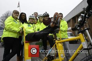 Sam, Jamila, James, Lauren, Darren, Jack, Team Rickshaw, Matt Baker and Alex Jones